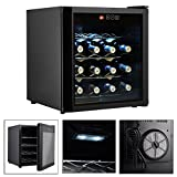 Wine Cooler Fridge Cellar Storage Black 16 Bottles With High Technology Semiconductor And Thermoelectric TSE077A