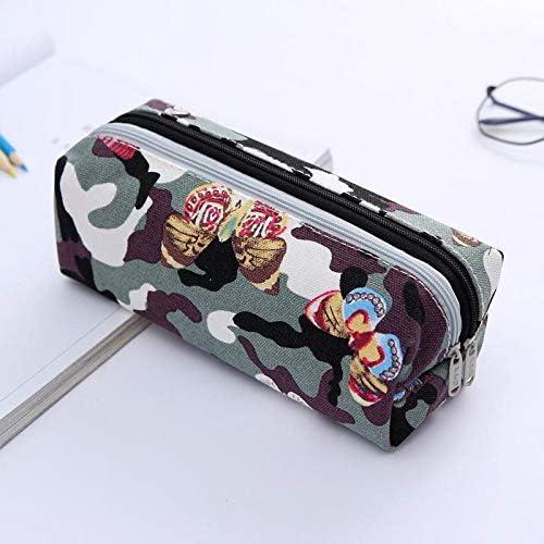 XHHNI - Estuche escolar con doble capa, diseño de flores, para almacenamiento, cinta de goma de borrar para estudiantes, papelería, color Color 1: Amazon.es: Oficina y papelería