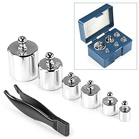 Neewer 205 Gram Precision Steel Balance Scale Calibration Weight Kit Set with Tweezers, Class M2 -Suitable for Digital Jewellery Scale, General Laboratory, Commercial, and Educational use - Kit Di Calibrazione