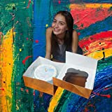 Cake Boxes 10 x 10 x 5 and Cake Boards 10 inch Gold Cake Box Bakery Boxes with Window Cake Boards 10 Inch Tall Cake Box 10 inch Cake Boxes Large Cake Boxes Tall Cake Boxes Cake Board 10 Inch