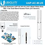 UniFi AC Mesh UAP-AC-M-US 802.11AC Indoor/Outdoor Dual-Band Access Point (US)