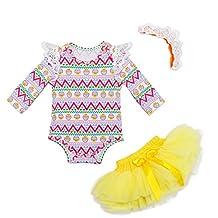 Angeline Boutique Baby Infant Girls Bodysuit Tutu Skirt Outfit Set