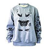 Noonew Women's Harry Tattoos Style Sweatshirt X-Large Gray