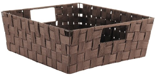 (Whitmor Woven Strap Shelf Storage Tote Basket - Java )