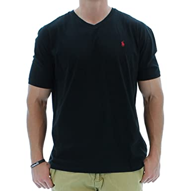 a491633dd RALPH LAUREN Polo Mens Short Sleeve V-Neck T-Shirt Polo Black at ...