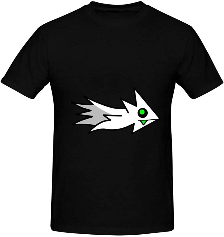 QAX-GTD Men's Cotton Shirts Geometry Ship Dash Casual Short Sleeve T-Shirt Boys Tank Tops Tees Polo