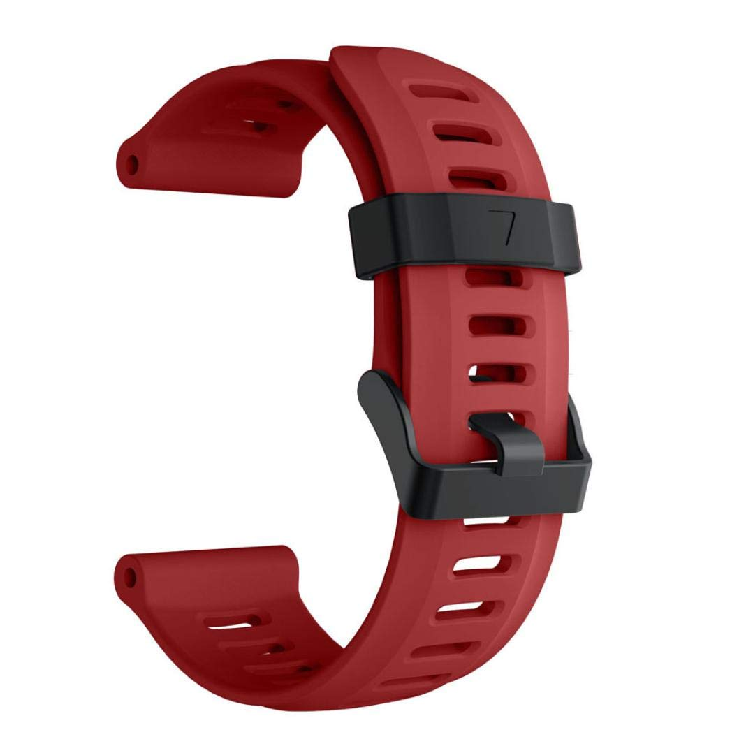 For Garmin Fenix 5X Plus,KFSO Soft Silicone Strap Replacement Watch Band (Red)