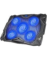 """Base Refrigeracion Portatil Ventilador Portátil Cooler Fan Refrigeracion Gaming con 5 Ventiladores Silenciosos y 2 Puertos USB, para Computadoras Portátiles de hasta 17""""(F2068)"""