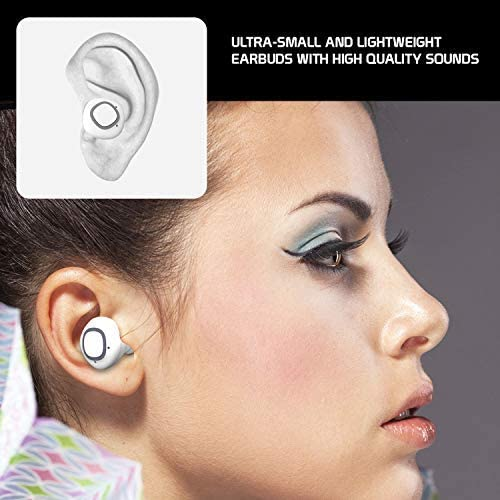 Big Sale PRO Wireless V5 Bluetooth Earbuds for Samsung Galaxy S20 Ultra 5G Mini with Charging case for in Ear Headphones. (V5.0 Pro White) WUJoXQS
