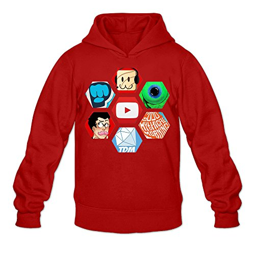 e Jacksepticeye And Markiplier Hooded Sweatshirts L Red ()