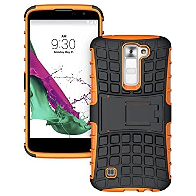 LG K7 Case,GBSELL Rugged Armor Hybrid Case Stand Shockproof Cover For LG K7
