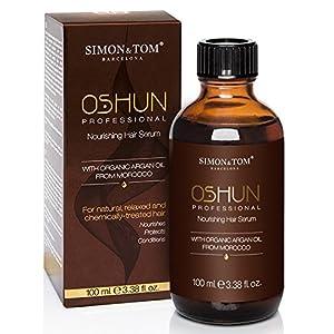 Simon & Tom – Oshun Professional, Sérum réparateur multibienfaits pour cheveux frisés, crépus, afros, naturels ou traités chimiquement, Vegan ? 100 ml