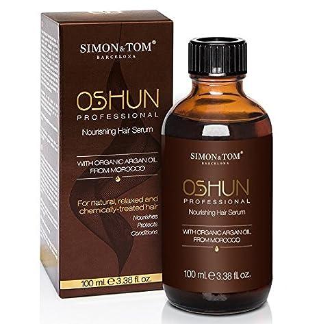 Simon & Tom - Serum nutritivo para controlar el encrespamiento y el pelo rizado - 100ML - Con Aceite de Argán Orgánico