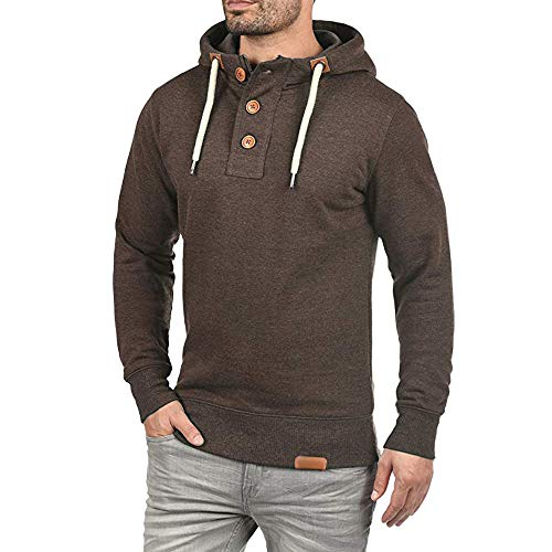 Hooded Rugby Heavyweight - Waterproof Winter Jackets for Men Plus Size.Fashion Trip Men Hooded Pullover Hoodie Sweater with Buttons Sweatshirt Coat