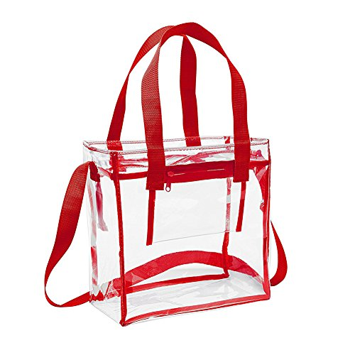 Stadium PVC Bag Yiuswoy Transparent Waterproof Tote Tote Clear Handbag Transparent and Swimming Shoulder Red Men for Women Yellow 88wqSv