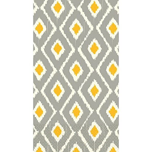Sun & Slate Ikat Guest Towels ECO Party Disposable Tableware and Supply, Paper, 2 Ply, 8'' x 4'', Pack of 16. by Amscan