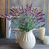 Decorative Lavender Fake Flowers Bouquet Wedding Home Artificial Household Color:Purple
