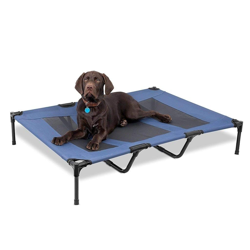 NA Internet's Best Dog Cot Blue Polyester Cooling by NA