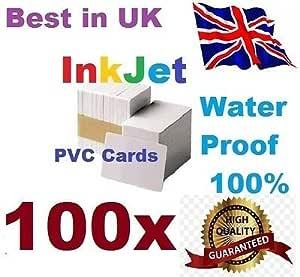 100 PVC ID tarjetas de tinta para Epson Cartucho Canon puede ...