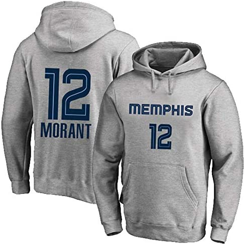 #12 Basketball Hoodie Sweatshirt、Grizzlies MORANT 12#Spring Sweatshirt、#12 Fan Training Wear Jersey Hoodie