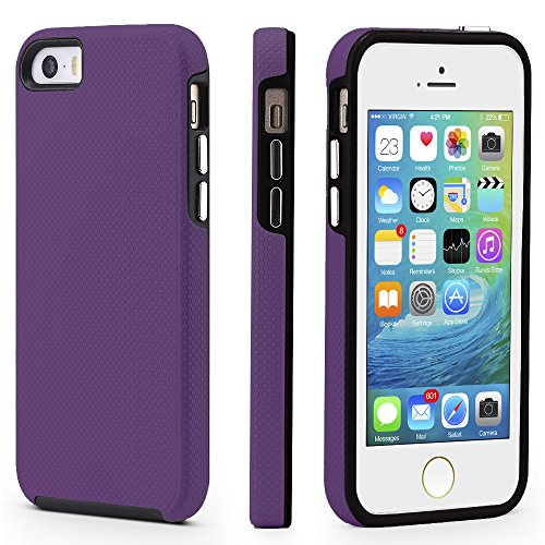 iPhone 5/5s/SE Case, CellEver Dual Guard Protective Shock-Ab