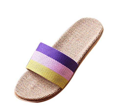 Sandales glissantes de 3 Non Les Les Unisexes Pantoufles Toile Pantoufles d'intérieur Confortables d'intérieur de Soulèvent Légères 7Utqww81x