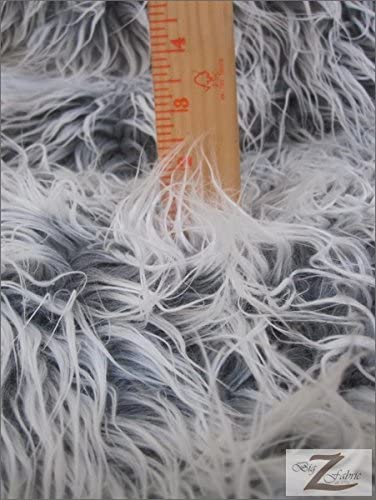 BUBBLE GUM PINK Frosted Shaggy Mongolian Faux Fur Fabric Sold By The Yard 60 Width