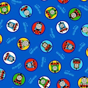 Thomas the Tank Engine & Friends on Navy Blue Fabric - Thomas, Percy & More (Great for Quilting, Sewing, Craft Projects, Throw Pillows & More) 1 Yard X (Friends Blue Engine)