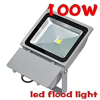 WoneNice Waterproof 100W LED Flood Light Warm White High Power Outdoor Spotlights Industrial Lighting Home Security Lighting Outdoor House Business Surveillance Safety Wall Washer High Building Ad Billboard Garden Plant Deck Landscape Decor