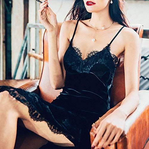 Pajamas Nero in Può con notte da con Autunno sexy da cotone al donna di pigiama da tasche donna Completo verde e inverno essere Camicia da lungo maniche laccetto fuori Piccolo senza Pigiama Accappatoio 8I8rp