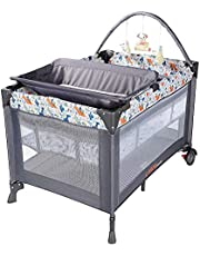 LIVINGbasics Portable Baby Playard and Changing Table, Flodable Playard Suitable for Home/Travel/Outdoor