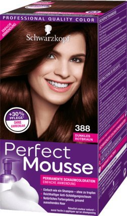 Schwarzkopf Perfect Mousse Permanent Hair Color 388 Dark Red Brown -