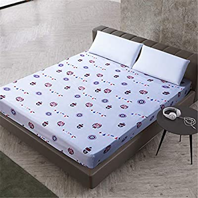 CHLCH Bedding - Protector de colchón Acolchado - Microfibra - Transpirable - Funda para colchonManga de impresión y Pulido de poliéster 7 220X200cmX25