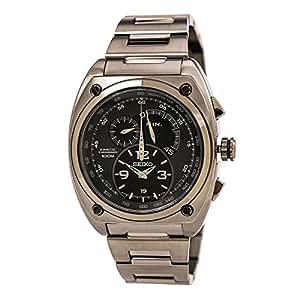 Seiko SNL073 - Reloj de pulsera hombre, acero inoxidable, color plateado