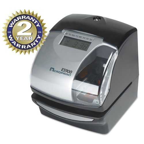 o Acroprint Time Recorder o - Electric Time Recorder,Wall/Table Mountable,Black/Gray