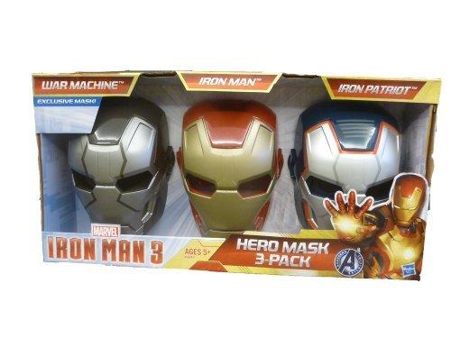 Iron Man 3 Hero Mask - Pack of 3 (War Machine, Iron Man, Iron Patriot)