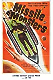 RARE POSTER thick MISSILE MONSTERS movie 1958 cult HAMMER REPRINT #'d/100!! 12x18