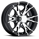 16 x 6 Viper T07 Black Machined Trailer Wheel 6 Lug, 3,200 lb Capacity