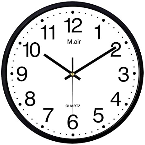 Amazon.com: Ysayc Metal Wall Clock Bedroom Living Room Simple Creative Quartz Clock, Characters Black: Home & Kitchen