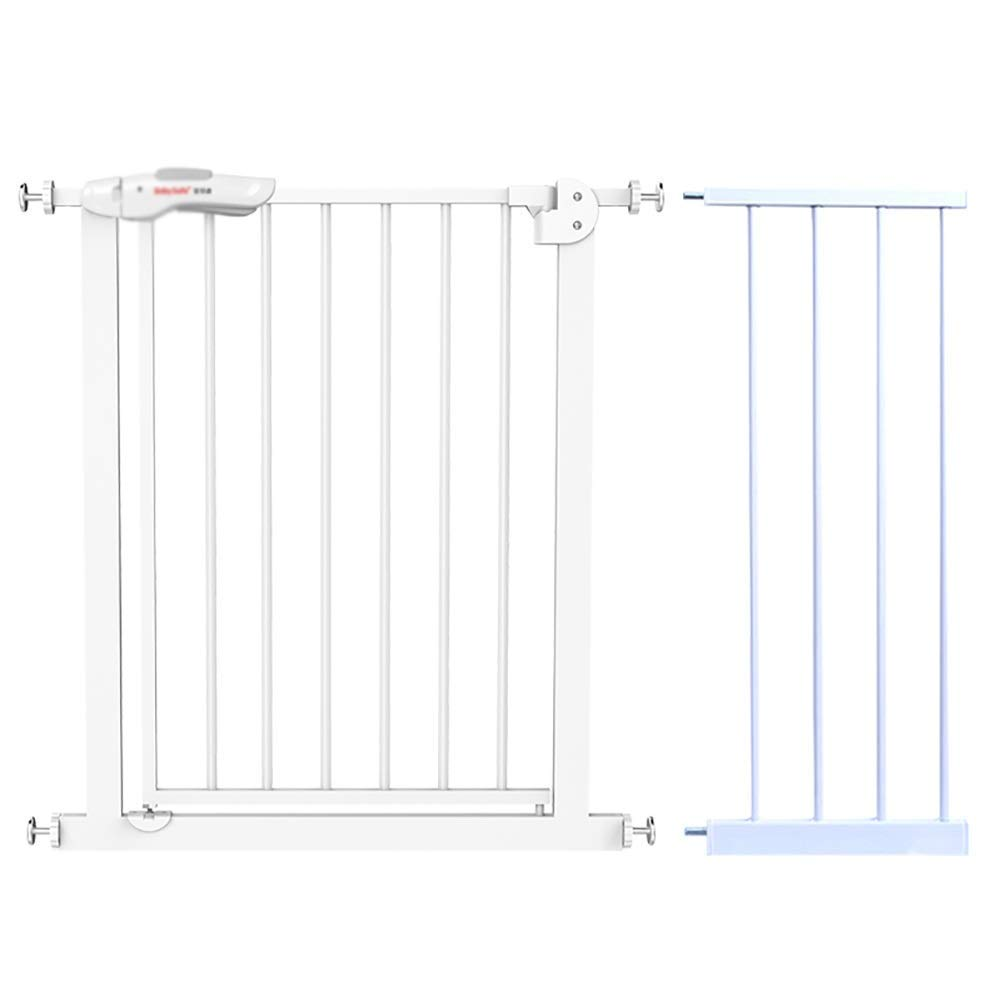セイフティゲートAxis Pressure Fit Stair Gateエクステンションメタルダブルロック付き、マルチサイズ、ホワイト(サイズ:105-114cm)   B07SV3FH7N