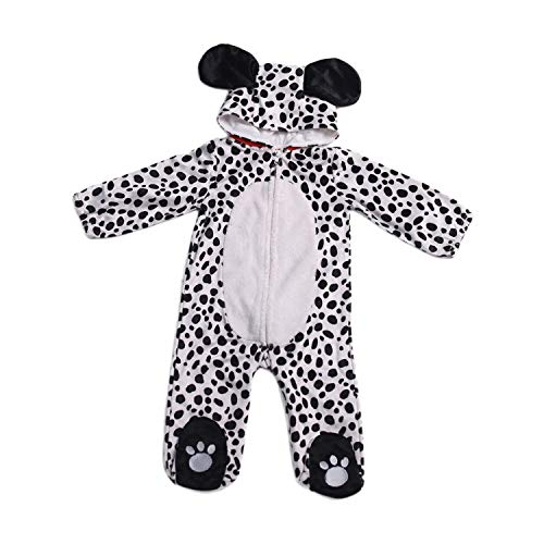 HollyHOME Baby Romper Dalmatian Puppy One Piece Dog Sleeping Wear Cosplay for -