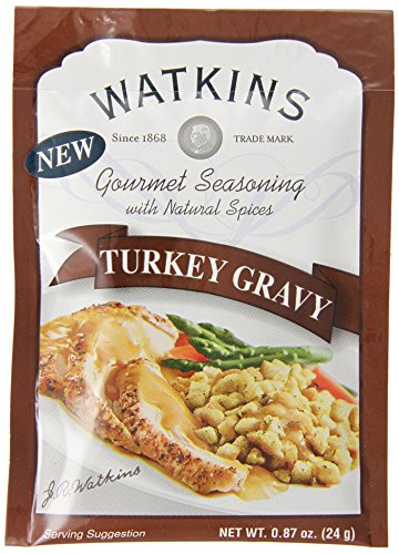 Watkins Gourmet Seasoning with Natural Spice Mix, Turkey Gravy, 0.87 Ounce (Pack of 12) (Turkey Gravy Packets)