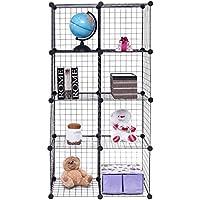 DIY 8 Cube Grid Wire Cube Shelves