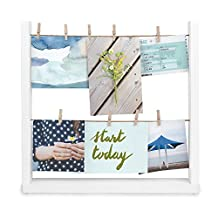 Umbra Hang-It Desk Photo Display, White, 5 by 7-Inch