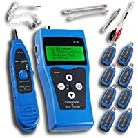 Noyafa NF-388-H Network Ethernet LAN Phone Tester wire Tracker USB coaxial Cable 8 Far-end Jacks