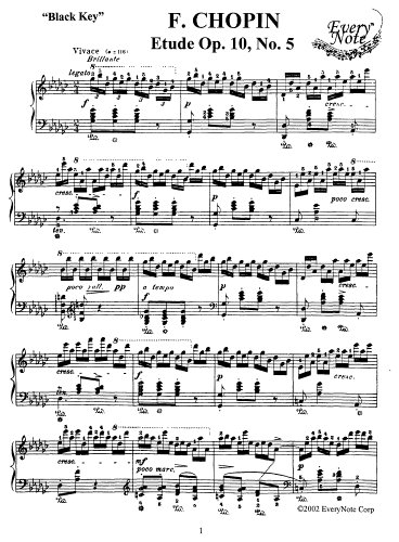 Chopin Etude Op. 10 No. 6: Instantly download and print sheet music Chopin