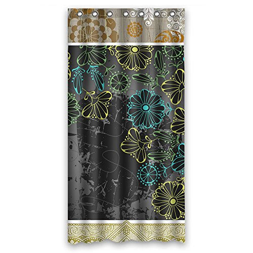 (MaSoyy Color Block Bath Curtains Polyester Best For Father Mother Couples Boys Birthday. Machine Washable Width X Height / 36 X 72 Inches / W H 90 By 180 Cm(fabric))