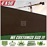 privacy fencing ideas ColourTree 4' x 50' Brown Fence Privacy Screen Windscreen, Commercial Grade 170 GSM Heavy Duty, We Make Custom Size