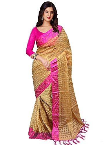 B4Best Creation Pink Cotton Silk Jhalar Designer Fancy Saree For Women