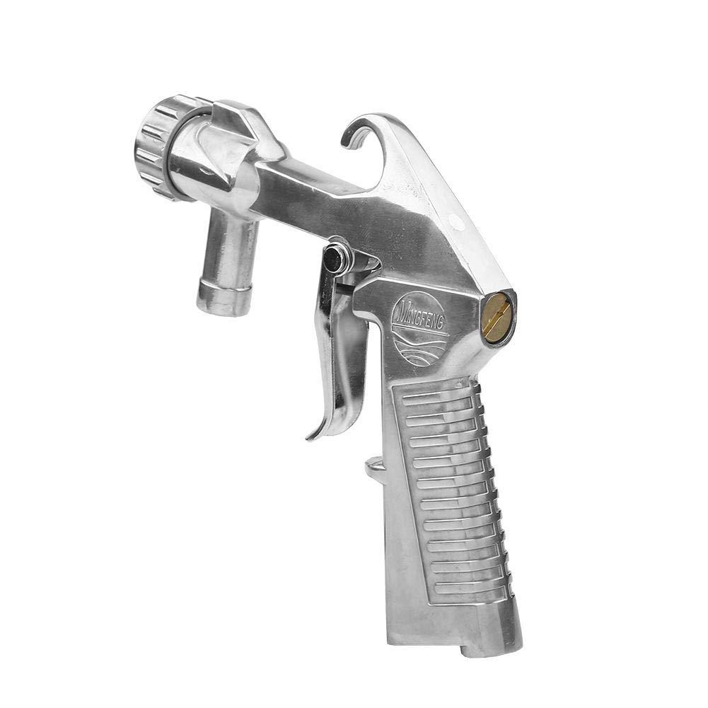 Le M/étal et dautres Surfaces Pistolet de Sablage en Aluminium Sandblaster Air Siphon Sand Blasting avec 4 Buses en C/éramique pour Graver Le Verre Asixx Pistolet de Sablage
